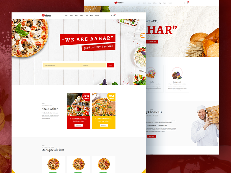 Aahar - Free Food Delivery Service Bootstrap4 Template