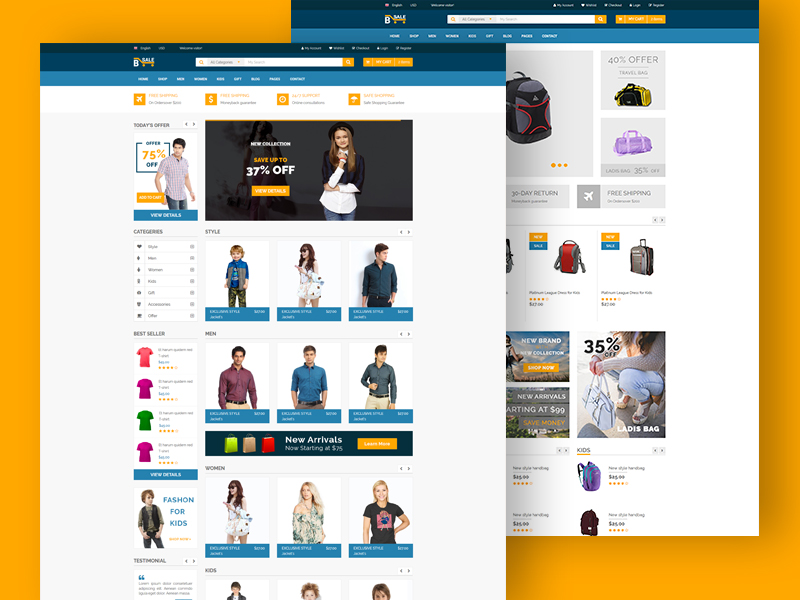B-Sale - Free eCommerce Fashion Template