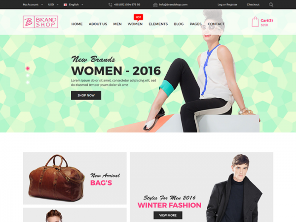 Brandshop - Free eCommerce Fashion Template
