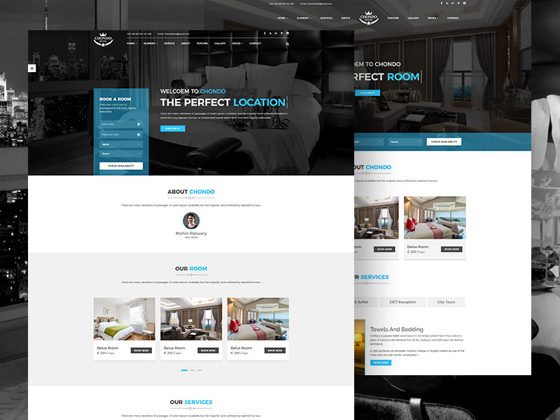 Chondo - Free Resort & Hotel Template