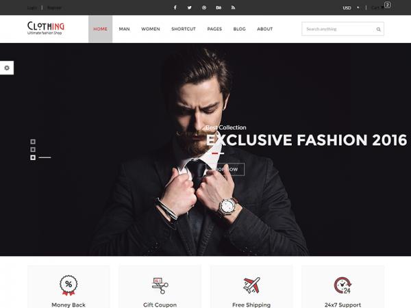 Clothing - Free eCommerce Fashion Template