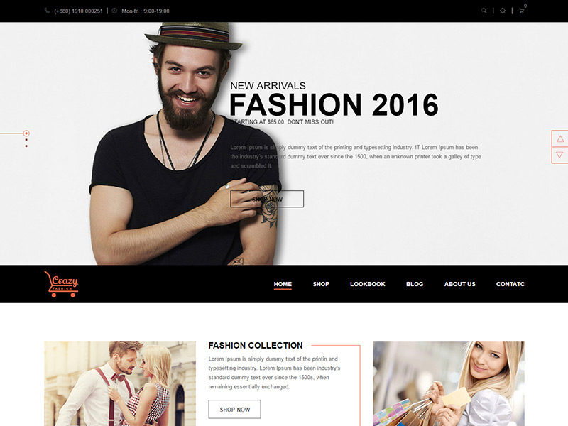 Crazy Fashion - Free eCommerce HTML5 template