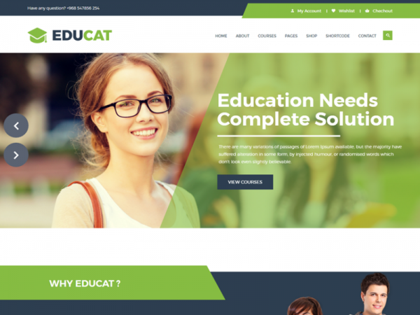 Educat – Free Education Bootstrap Template