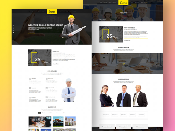 Erctor – Free Creative Responsive Architecture Template