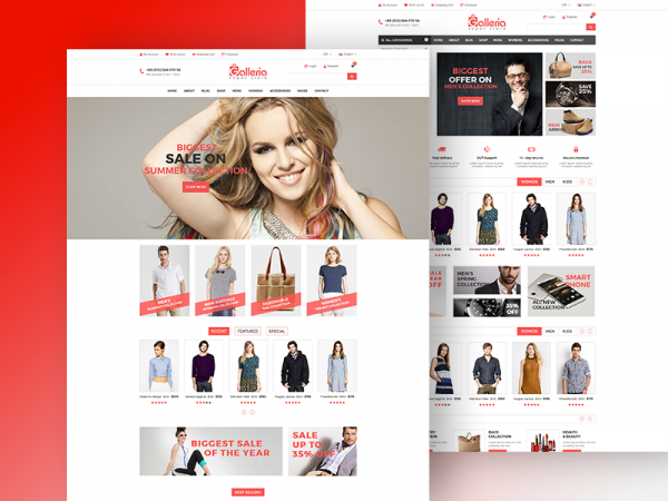 Galleria - Free eCommerce Bootstrap Template