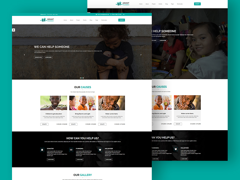 Grant Foundation – Free Nonprofit Charity Template