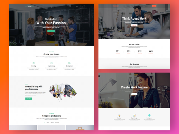 Karbar - Free Multipurpose Bootstrap4 Template