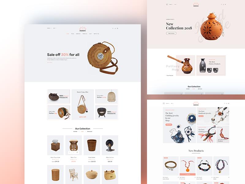 Nokshi - Free Handmade & Craft Bootstrap4 Template
