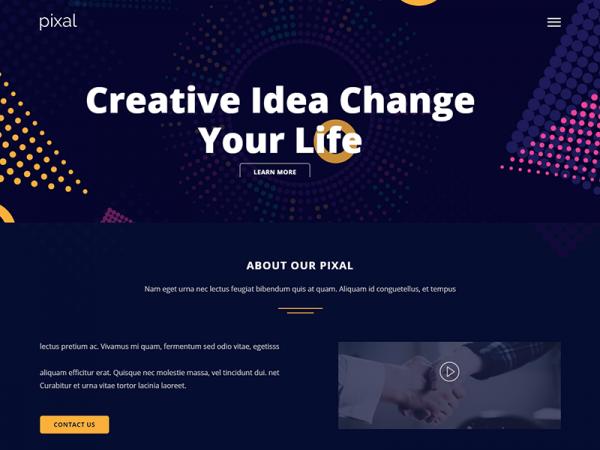 Pixal - Free Creative Multipurpose HTML Template