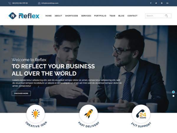 Reflex - Free Responsive Corporate Template
