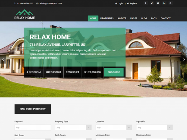 Relax Home - Free Responsive Real Estate HTML5 Template