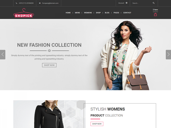 Shopick - Free eCommerce Responsive Bootstrap Template