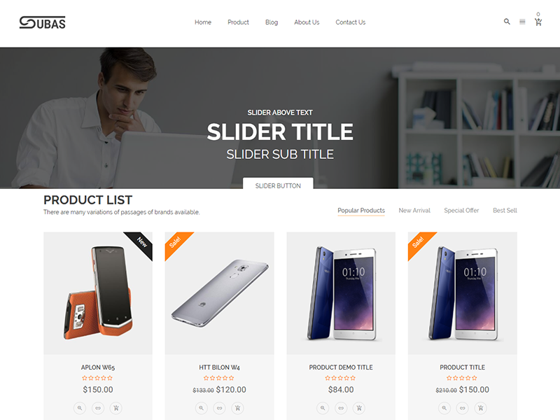 Subas – Free Electronics eCommerce Bootstrap Template