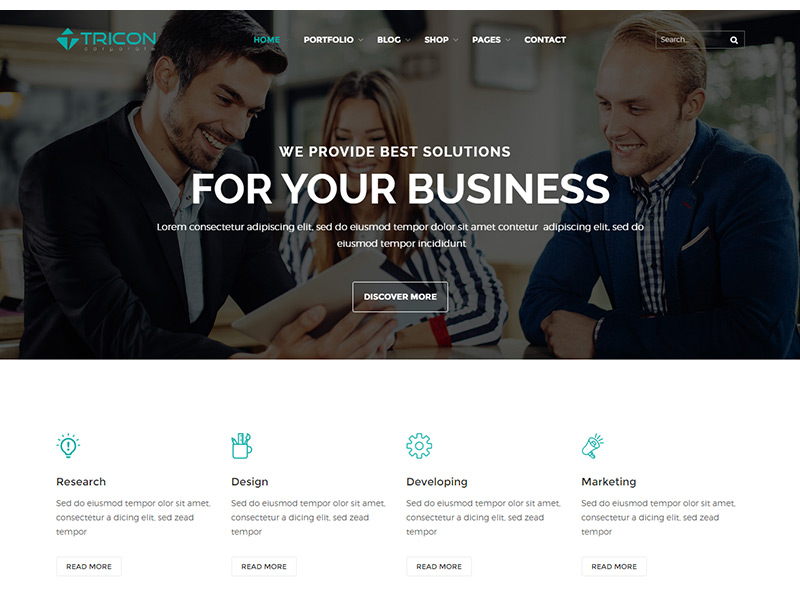 Tricon – Free Multipurpose HTML Template