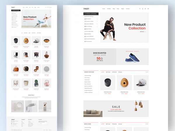 Tmart - Free Minimal eCommerce HTML5 Template