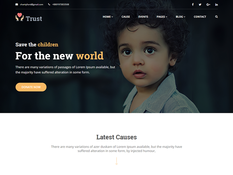 Trust – Free Nonprofit Charity Template