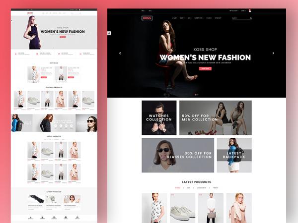 Xoss - Free eCommerce Fashion Template