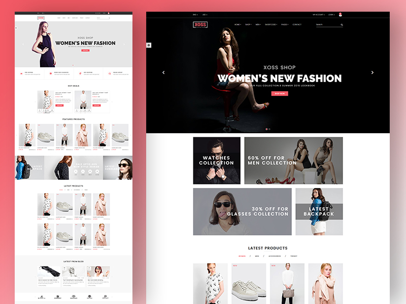Xoss - Free eCommerce Fashion Template