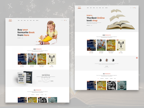 Boighor – Free Books Library eCommerce Store