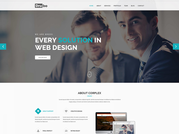 Drubo – Free Multipurpose HTML Template