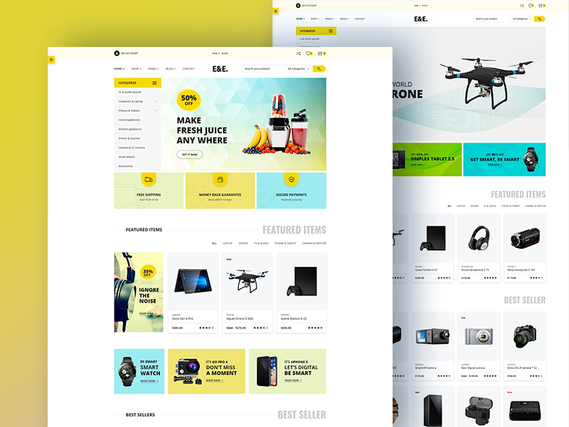 EE - Free Electronics eCommerce Bootstrap4 HTML Template