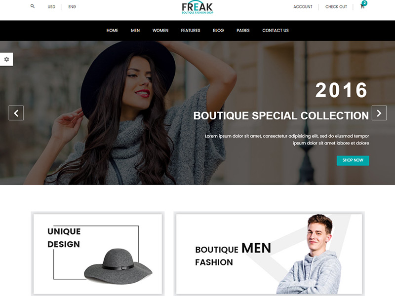 Freak - Free Boutique eCommerce Template