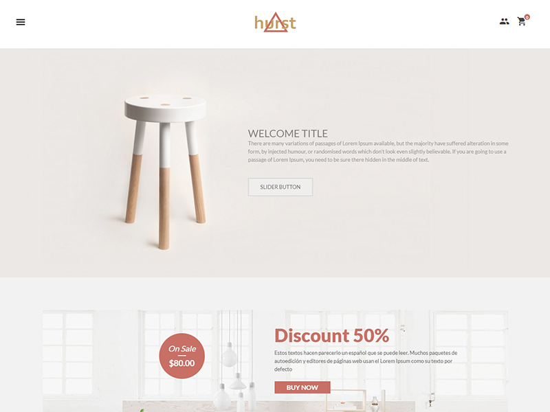 Hurst - Free eCommerce Furniture Template