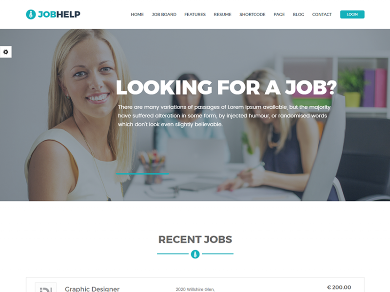 Jobhelp – Free Job Board Responsive Template