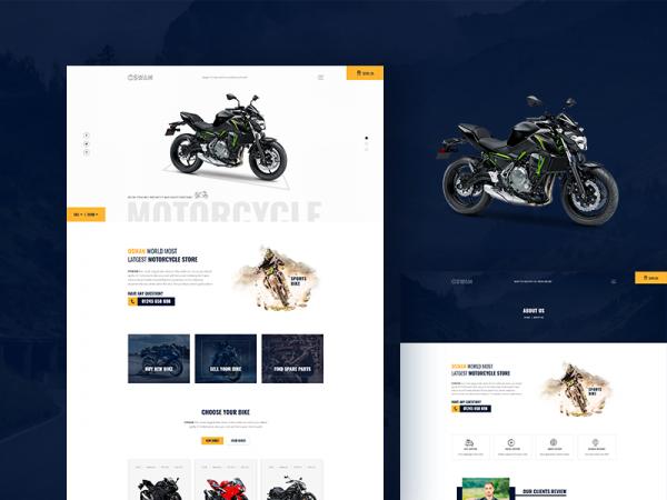 Oswan - Free eCommerce Bike Store Template