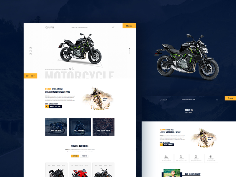 Oswan - Free eCommerce Bike Store Template