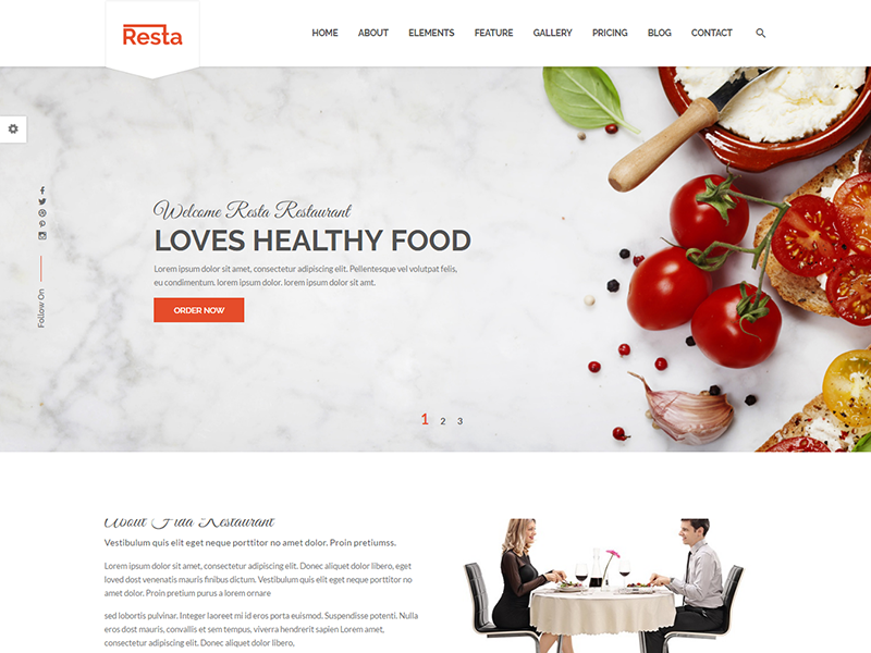 Resta - Free Restaurant HTML Template