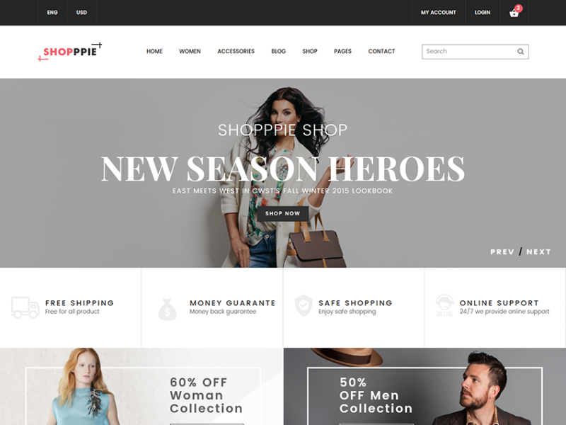 Shopppie - Free Ecommerce Fashion Template
