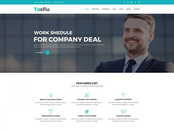Tasfiu – Free Multipurpose HTML Template