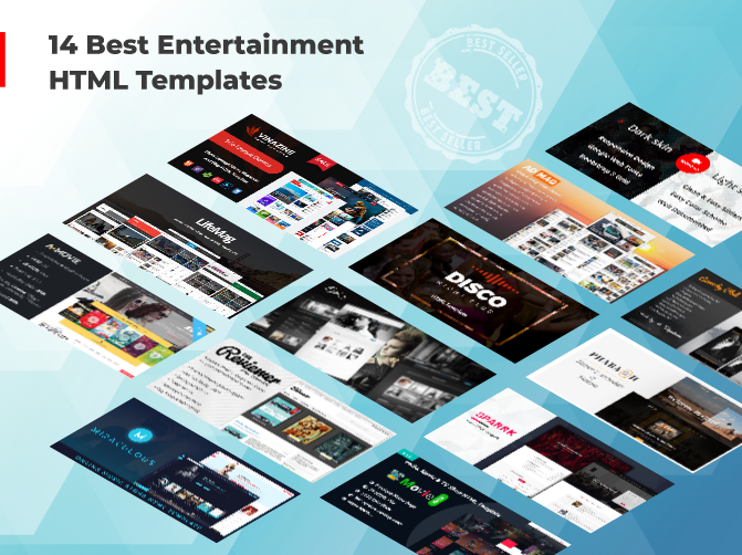 14 Best Entertainment HTML Template​