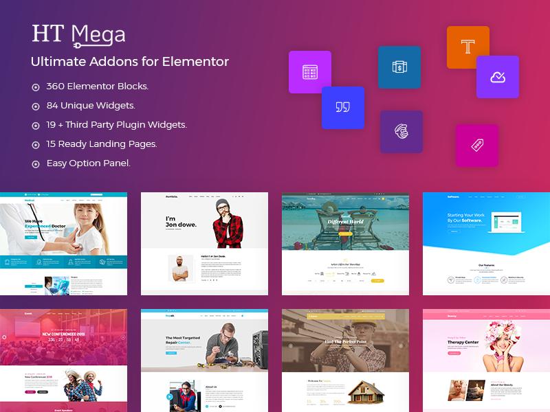 HT Mega – Ultimate Addons for Elementor Page Builder - Free