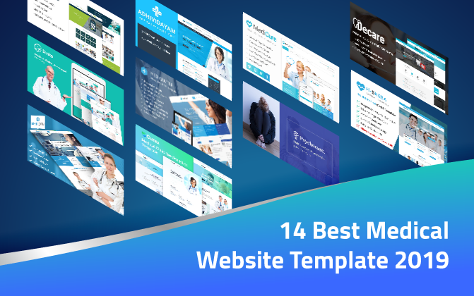 14 Best Medical Website Template 2019