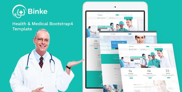 Binke-Health-&-Medical-Bootstrap-4-Template
