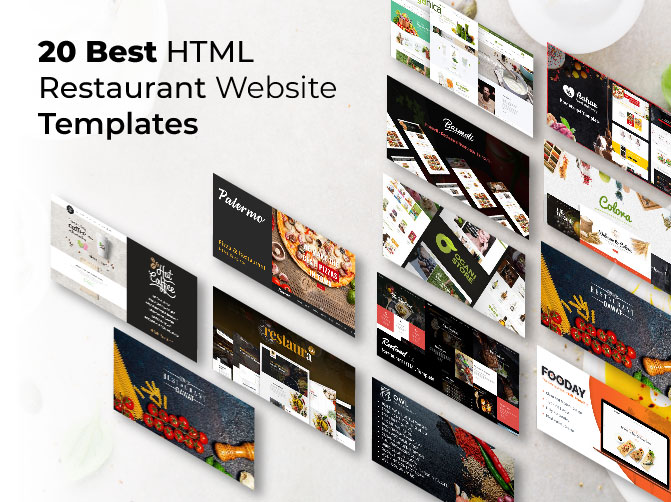 20 Best HTML Restaurant Website Template 2019