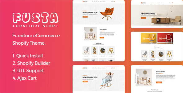 Fusta – Furniture Shopify Theme + RTL + Dropshipping