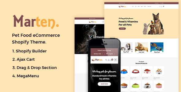 Marten –Pet Food Shopify Theme