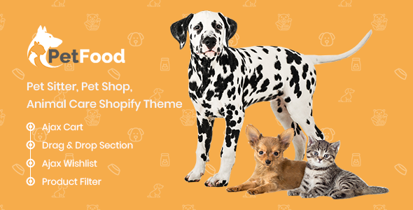 PetFood – Pet Sitter, Pet Shop, Animal Care Shopify Theme