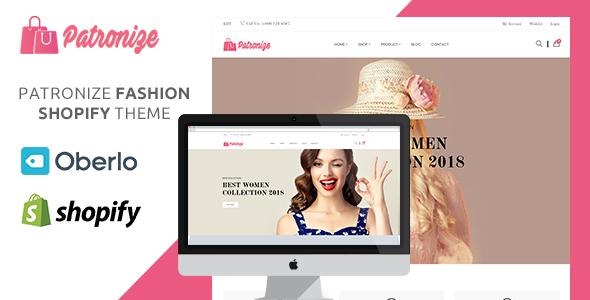 Patronize – Fashion Shopify Theme