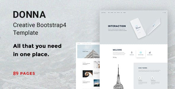 Best Creative Bootstrap HTML Templates 2019 - Free Themes Cloud
