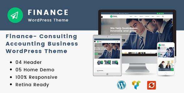 Consulting, Accounting WordPress Theme