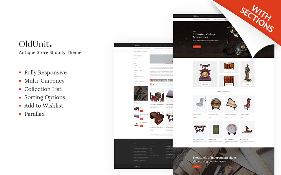 Antique Online Store Shopify Theme