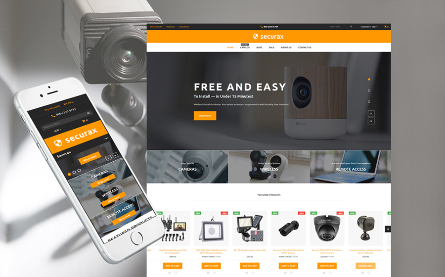Responsive Security Store Shopify Theme