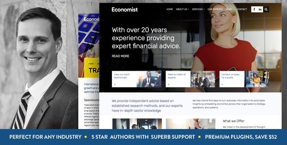 Business and Finance WordPress Theme