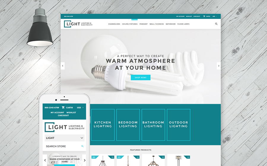Lighting & Electricity Services Shopify Theme