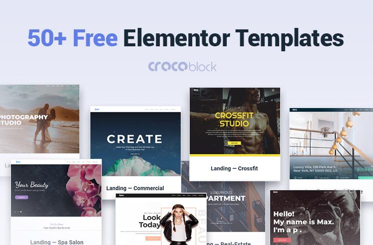 50+Free Elementor Templates