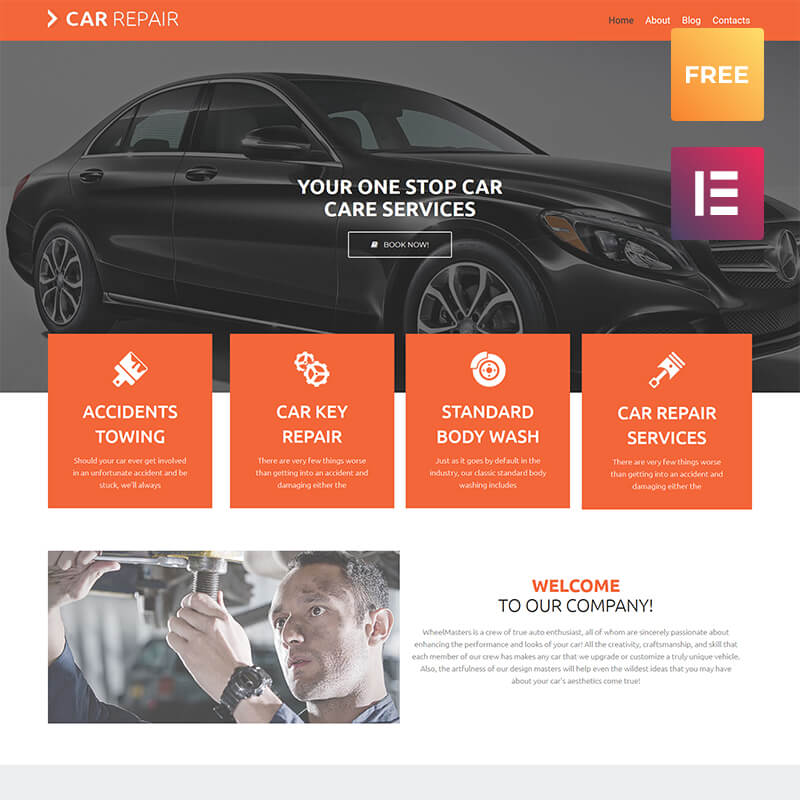Car Repair lite WordPress Theme